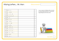 Missing Letters - Mr Men